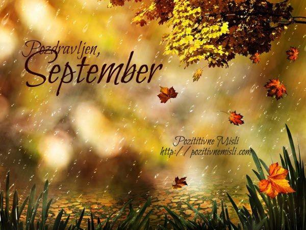 September  ... pozdravljen