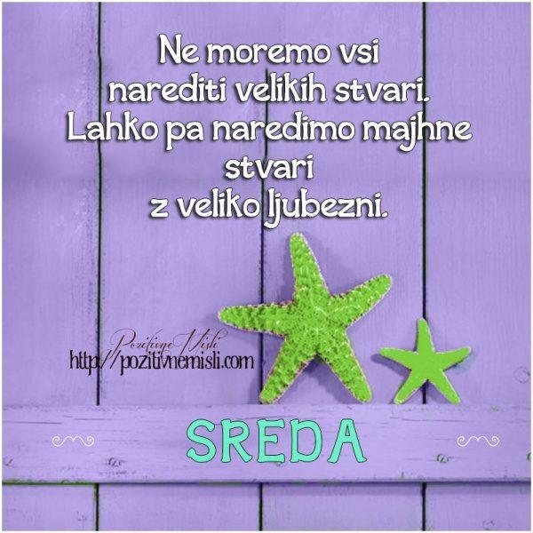 SREDA - Ne moremo vsi narediti