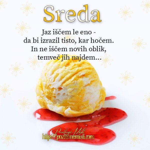 SREDA-  Jaz iščem le eno ...
