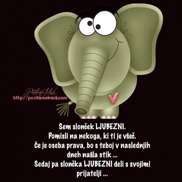 Sem slonček LJUBEZNI