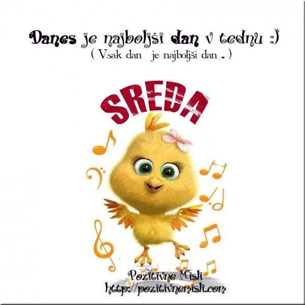 SREDA - Danes je najboljši dan v tednu