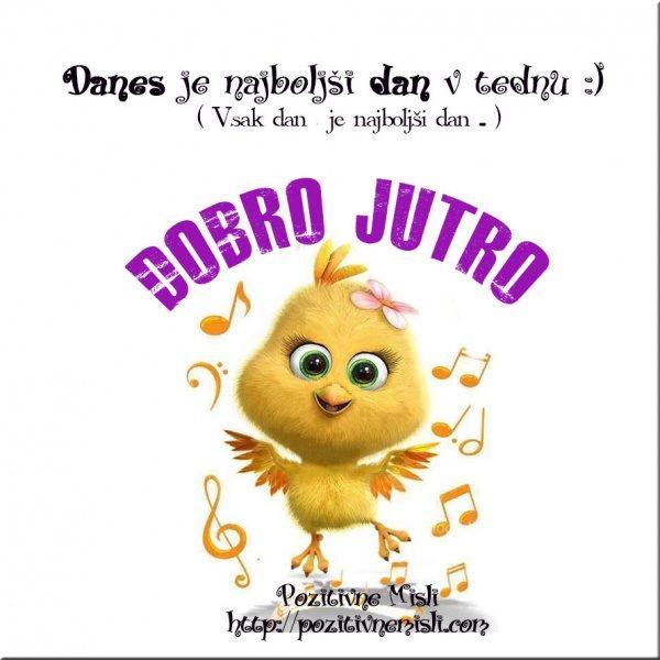 DOBRO JUTRO -Danes je najboljši dan v tednu