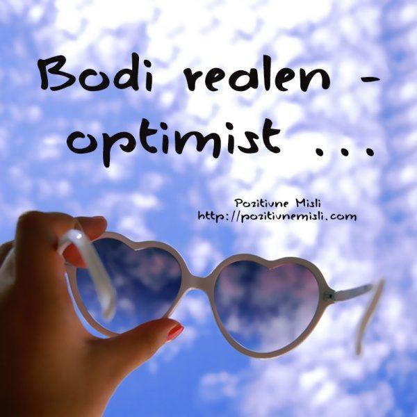 Bodi realen optimist