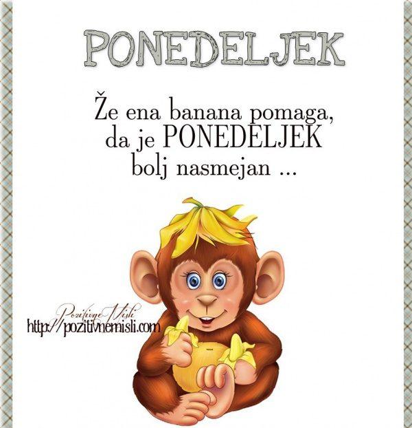 PONEDELJEK - Že ena banana pomaga, da je ponedeljek bolj nasmejan ...