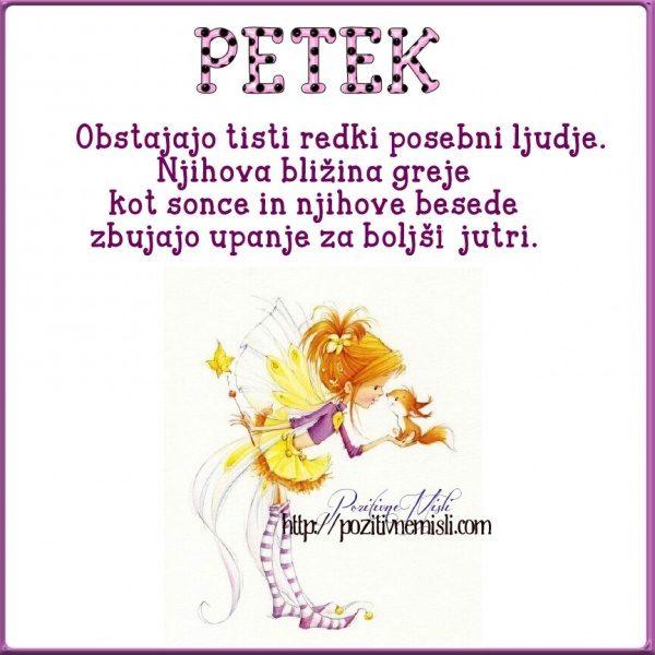 PETEK - Obstajajo tisti redki
