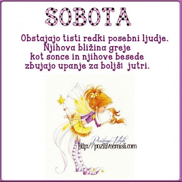 SOBOTA - Obstajajo ljudje