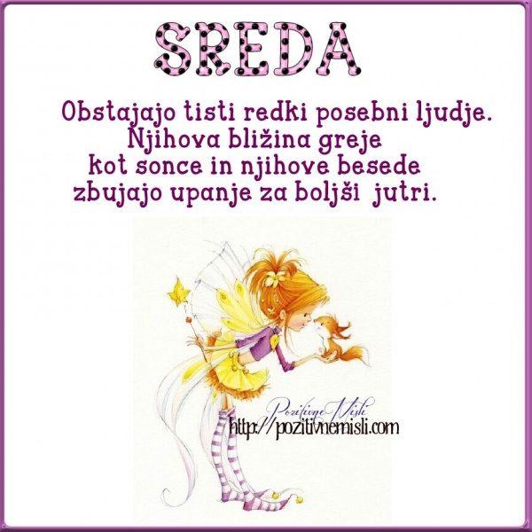 SREDA - Obstajajo tisti redki posebni ...