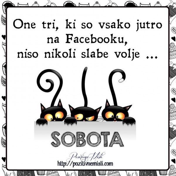 SOBOTA - One tri, ki so vsako jutro