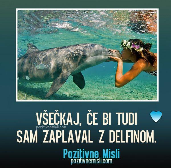 Všečkaj, če bi tudi sam zaplaval z delfinom