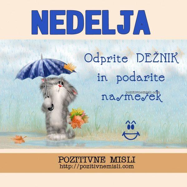 NEDELJA - Odprite dežnik