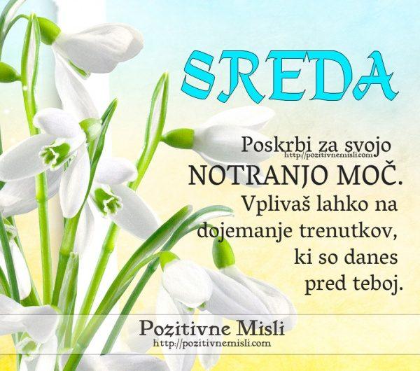 SREDA - Poskrbi za svojo notranjo moč