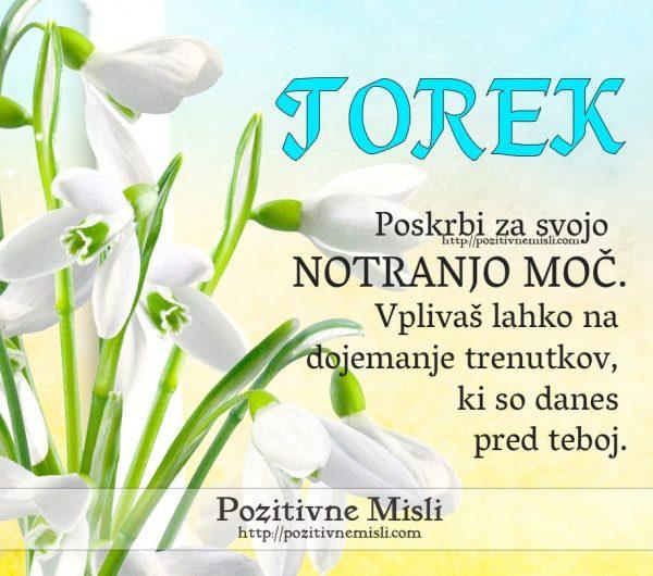 TOREK - Poskrbi za svojo notranjo moč. Vplivaš lahkona dojemanje trenutkov, ki s
