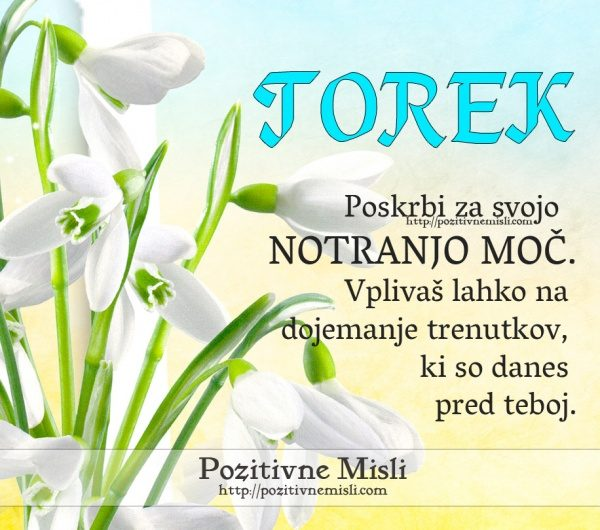TOREK - Poskrbi za svojo notranjo moč ...