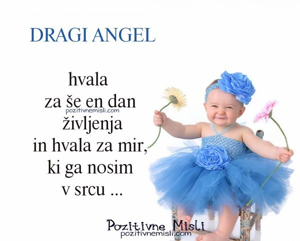Dragi Angel, hvala za še en