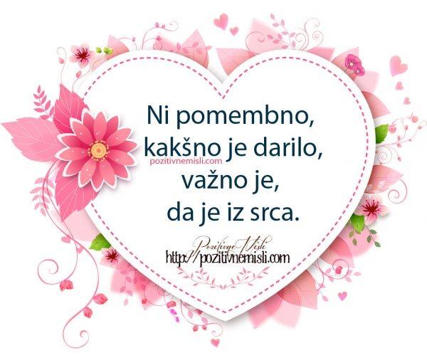 Ni pomembno, kakšno je darilo, Važno je, da je iz srca