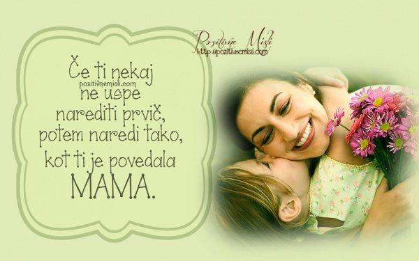 Misli o mami - Če ti nekaj ne uspe narediti prvič