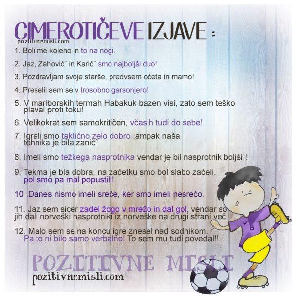 Cimeroticeve izjave  - nogomet viole NK MARIBOR