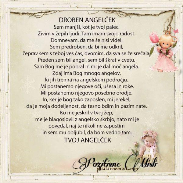 Drobni angelček -  sem manjši kot tvoj palec