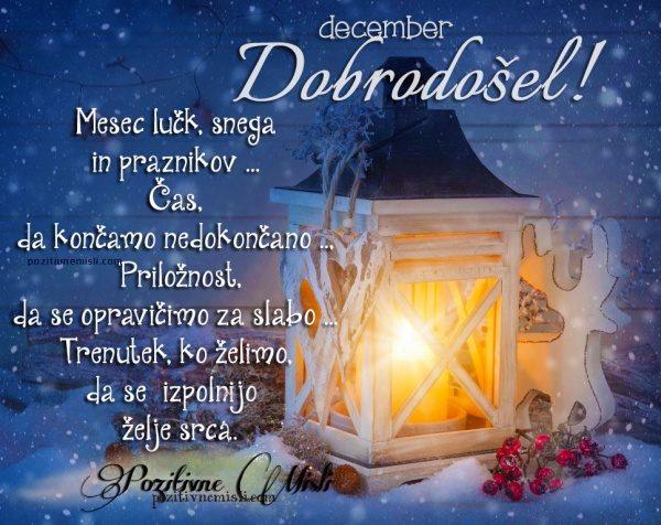 December  - Mesec lučk, snega in praznikov