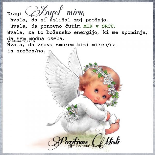 Dragi Angel miru