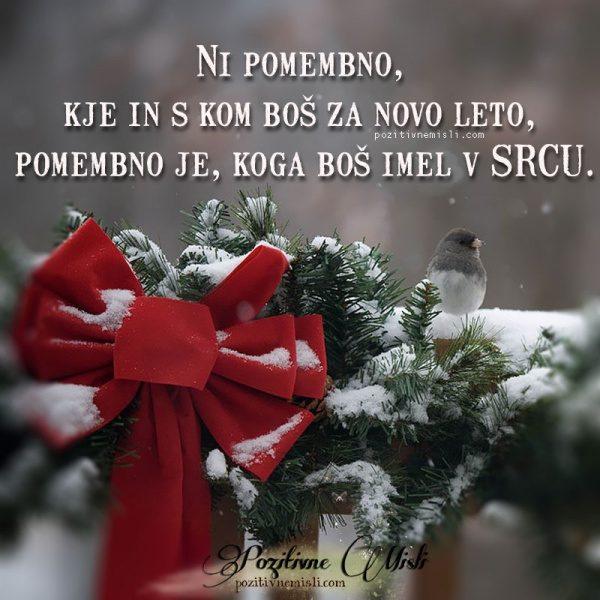 Ni pomembno, kje in s kom boš  za novo leto
