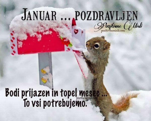 Januar -  pozdravljen