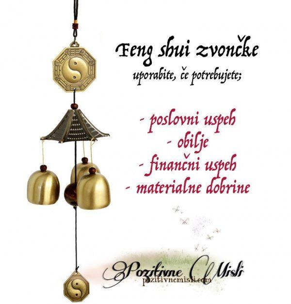 Feng Shui zvončki, ki prinašajo obilje in bogastvo