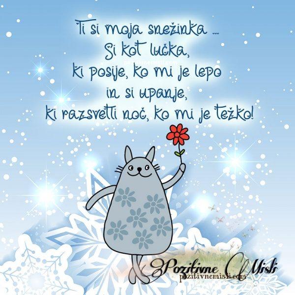 Ti si moja snežinka ... S