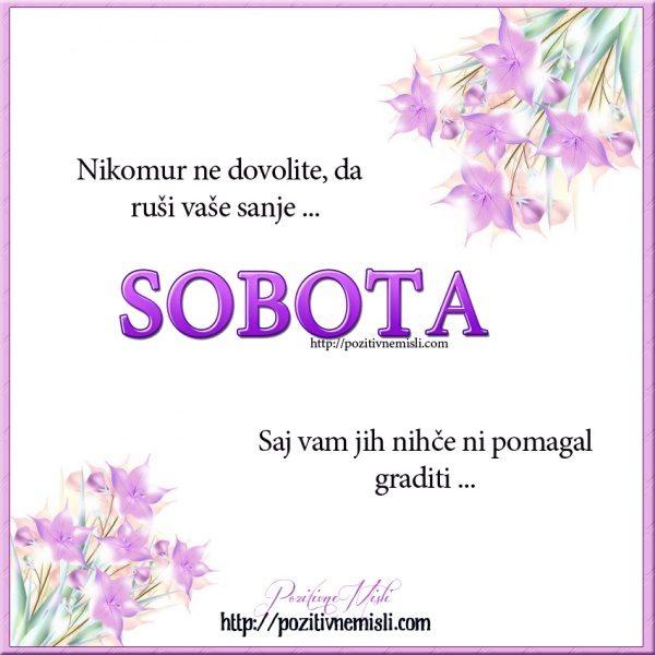SOBOTA - Nikomur ne dovolite