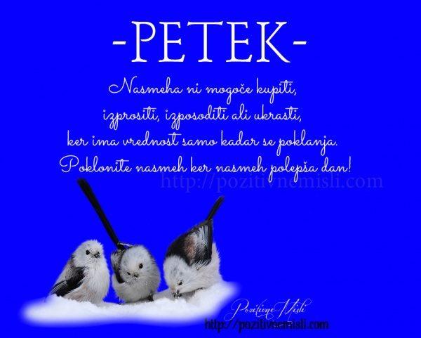 PETEK - Nasmeha ni mogoče kupiti