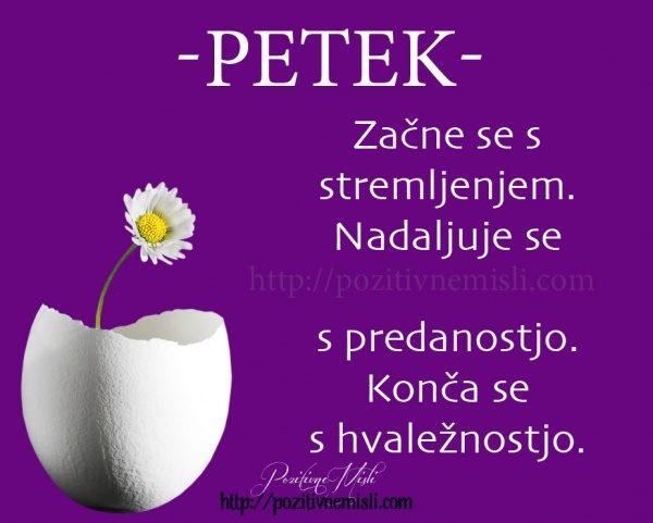 PETEK -Začne se s stremljenjem