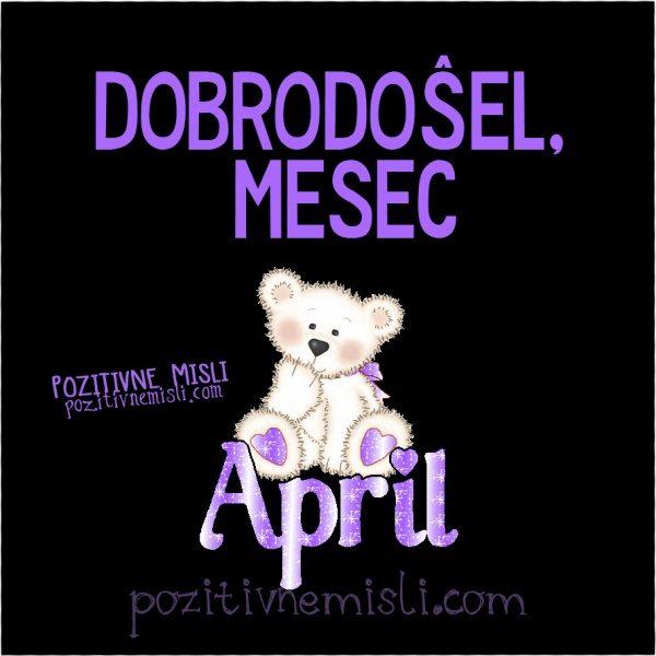 April - misli o mesecu aprilu