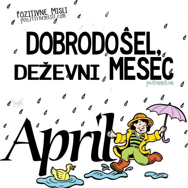 April - deževni mesec dežnik