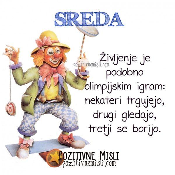 SREDA - Življenje je podobno olimpijskim