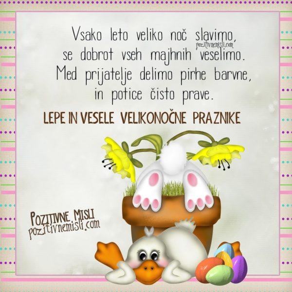 Vsako leto veliko noč slavimo - Velikonočna voščila