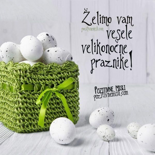 Želimo vam vesele velikonočne praznike - velikonočno voščilo