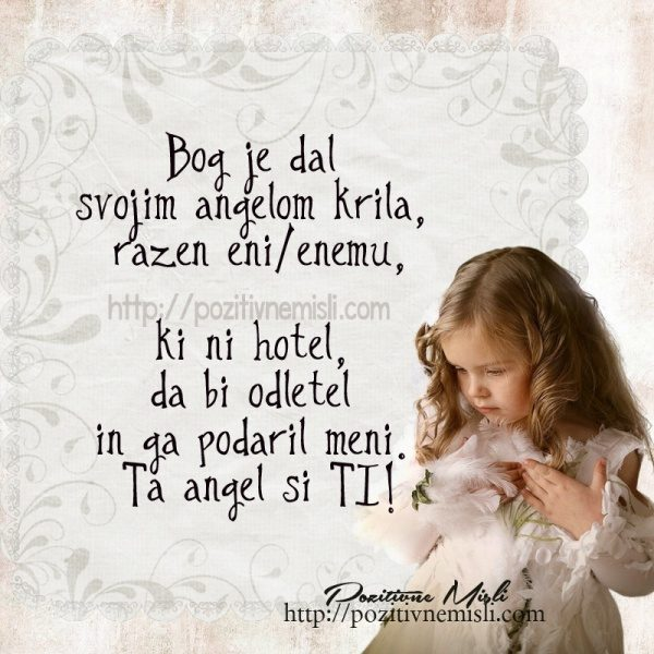 Bog je dal svojim angelom krila