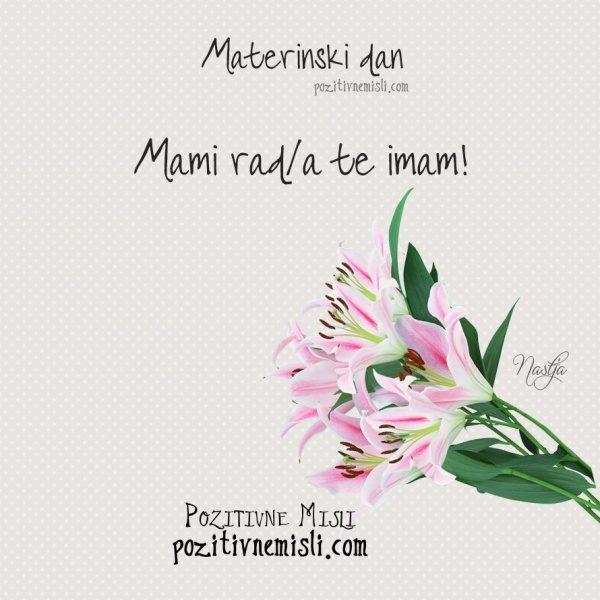 Materinski dan  - Mami rada te imam