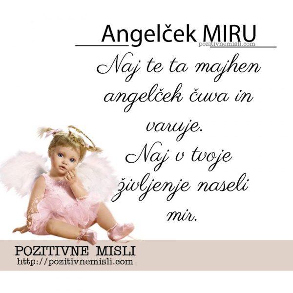 Naj te ta majhen angelček čuva