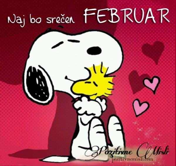 Naj bo srečen februar - lepe misli za ce mesec
