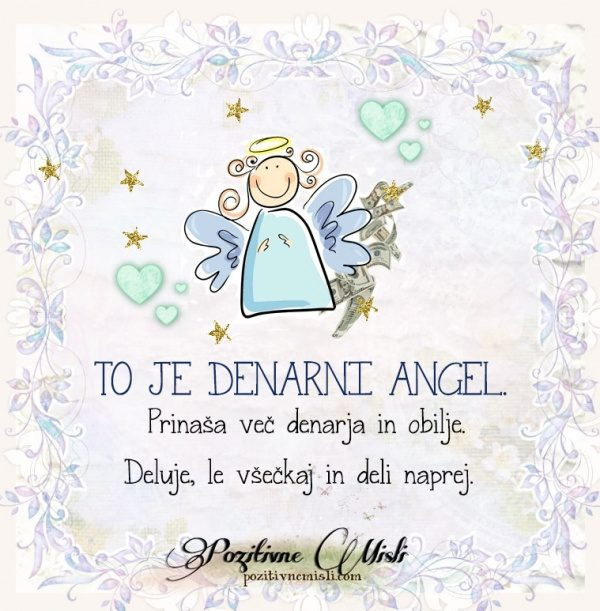To je denarni angel 👼🏻