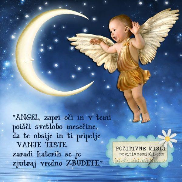 Angel, zapri oči in v temi