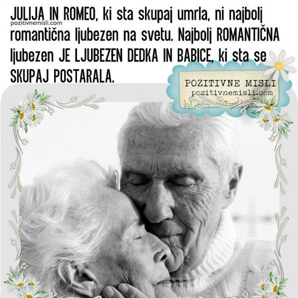 Misli o ljubezni - Julija in Romeo, ki sta skupaj umrla ...