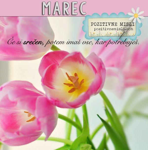 MAREC - dobrodošel! - Pozitivne misli za mesec marec
