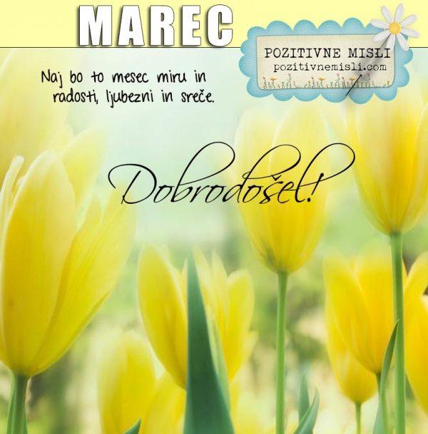 Marec  - dobrodošel mesec