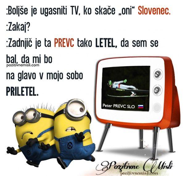 Boljše je ugasniti TV, ko skače Slovenec