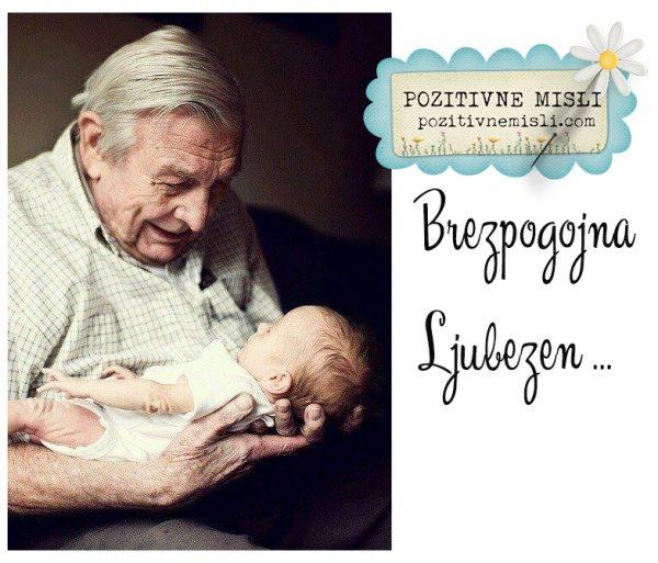 Brezpogojna ljubezen - dedek pestuje vnuka