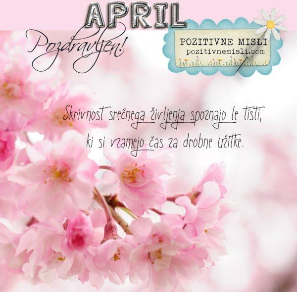 April - POZDRAVLJEN april