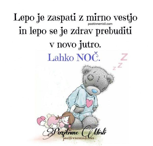 Lepo se je zaspati z mirnio vestjo