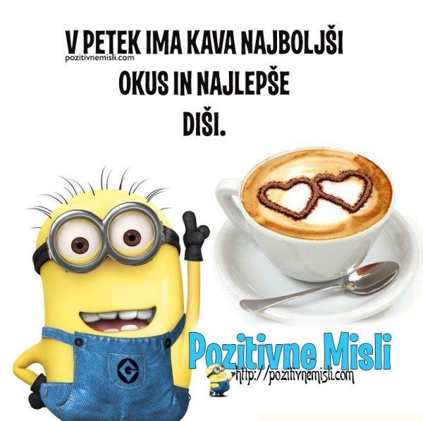 V petek ima kava najboljši okus in najlepše diši